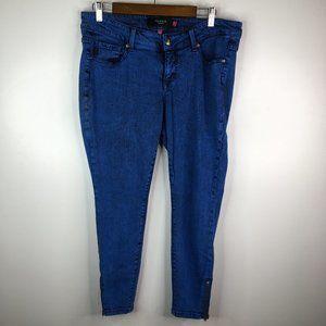 Torrid Light Crop Skinny Jeans Sz 12 Zip Ankle